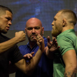 Nate Diaz vs. Conor McGregor UFC 202 Staredown
