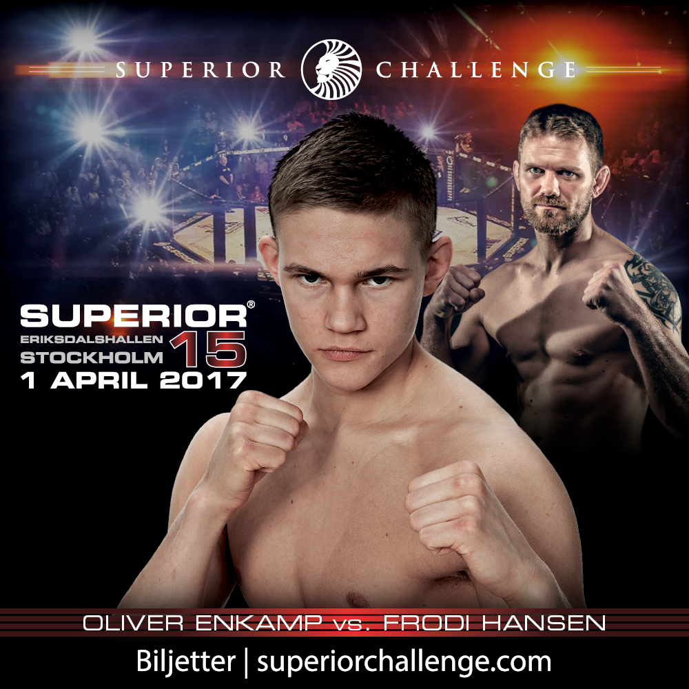 Bout Presentation Superior Challenge 15 Instagram Oliver Enkamp vs Frodi Hansen