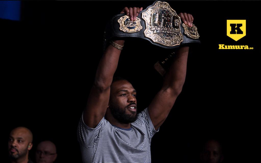 Jon Jones with UFC Belt