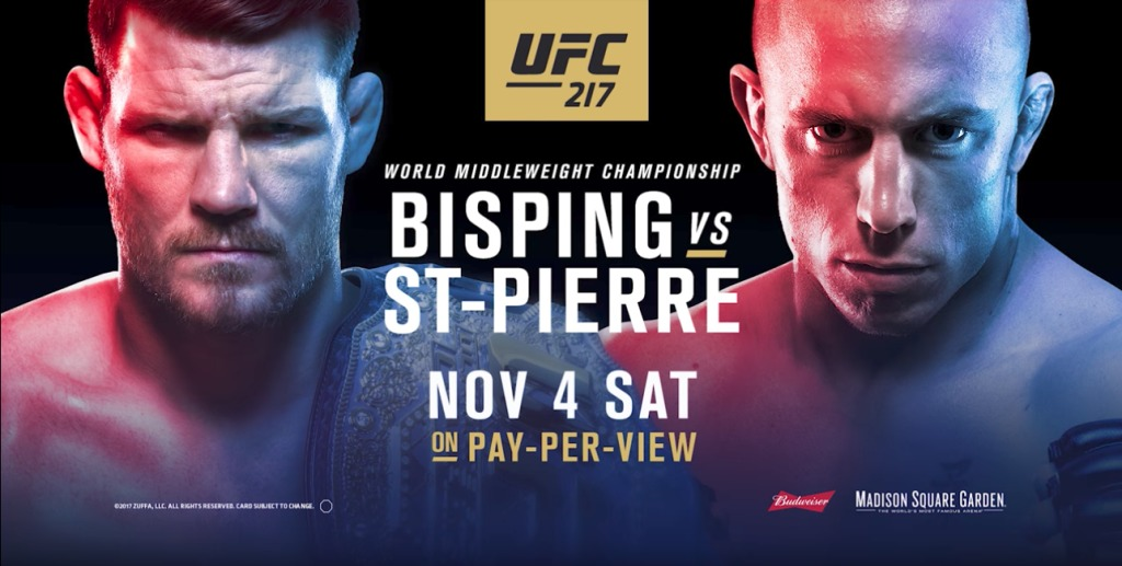 UFC 217 Georges st Pierre vs Michael Bisping
