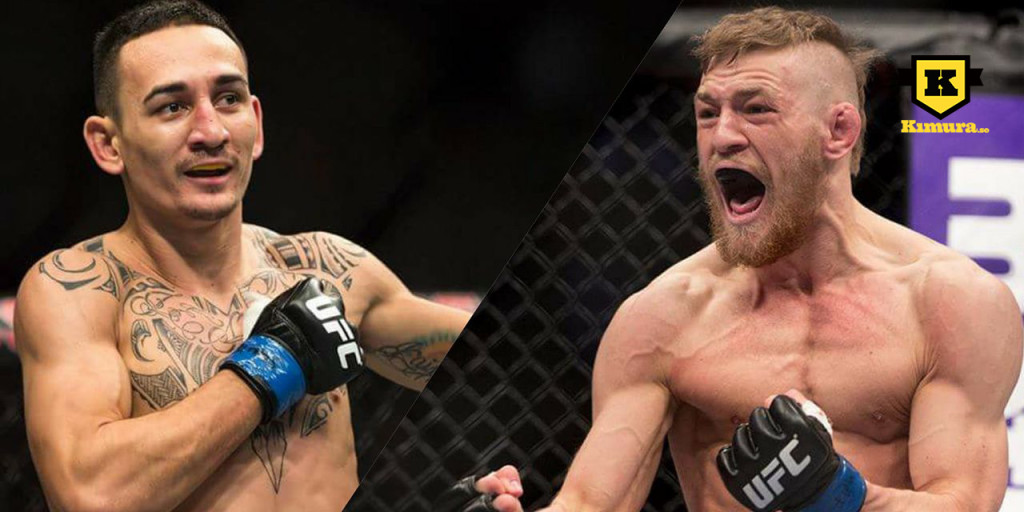 Max Holloway och Conor McGregor UFC bur MMA
