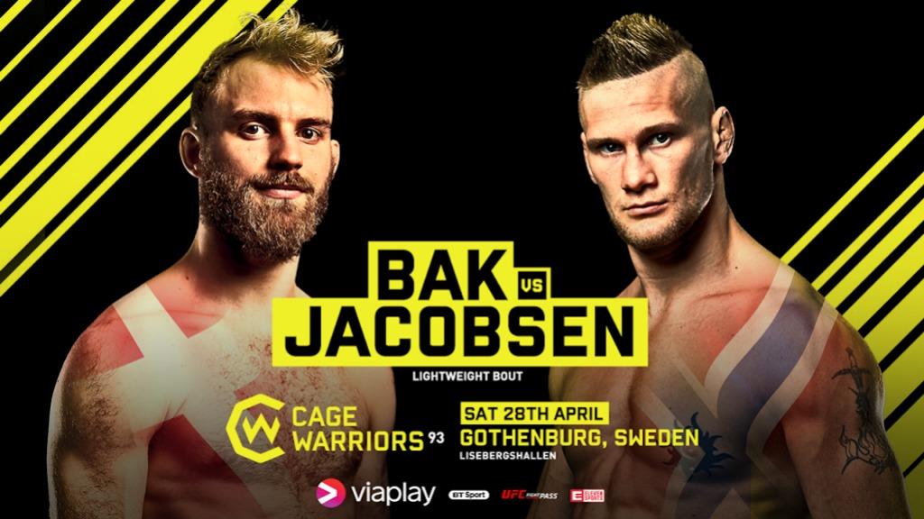 Cage Warriors Göteborg BakJacobsen