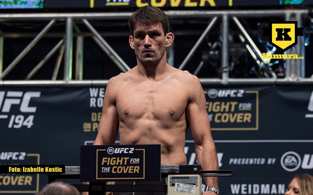 Demian Maia på invägning inför UFC 194