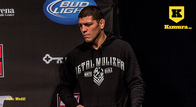 Nick Diaz vid invägning för UFC