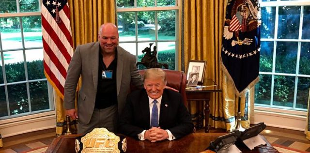 Dana White Donald Trump