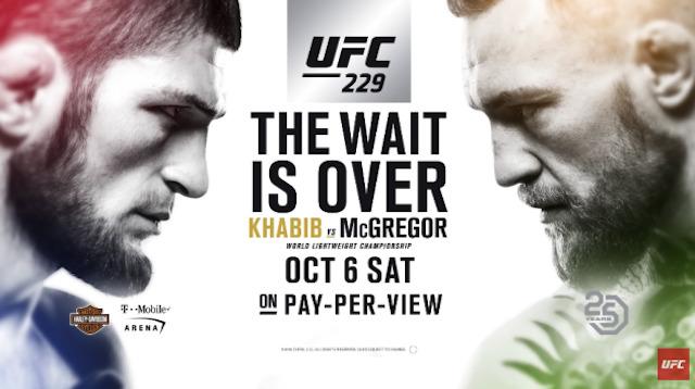UFC 229 Conor McGregor vs Khabib Nurmagomedov