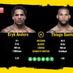 Eryk Anders möter Thiago Santos i Sao Paulo