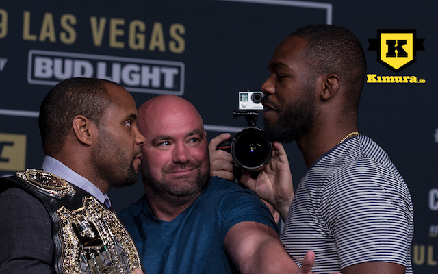 Jon Jones Daniel Cormier face off