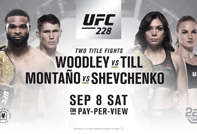 UFC 228: Matchkort