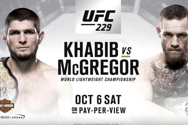 ufc 229 conor mcgregor vs khabib nurmagomedov poster