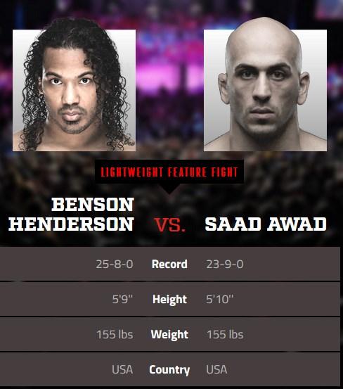 enson Henderson vs Saad Awad vid Bellator 208
