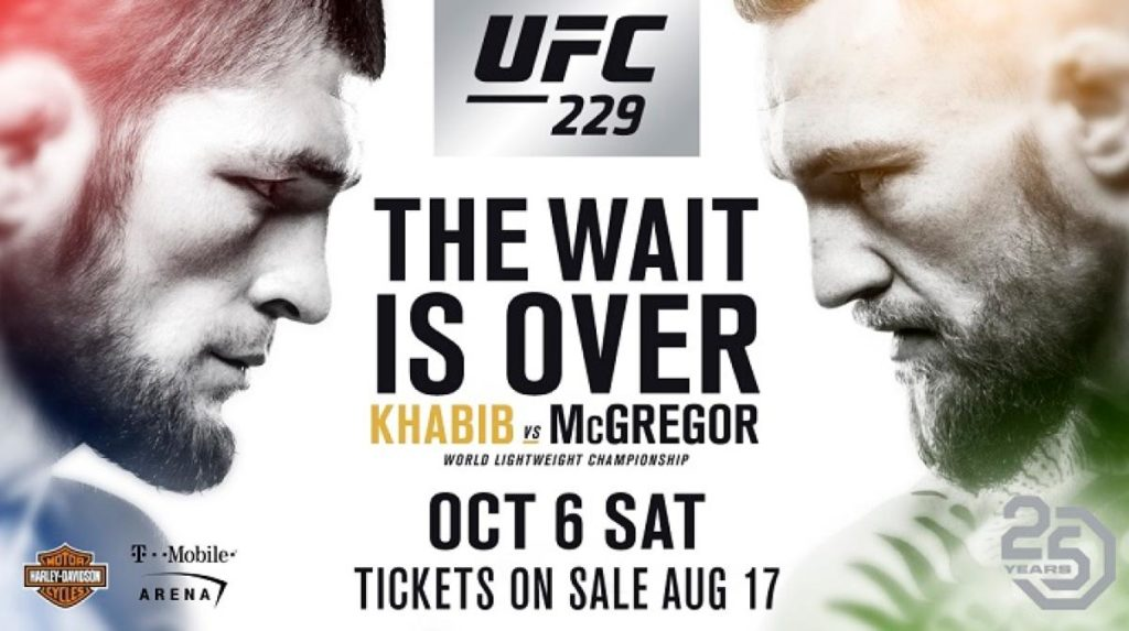 UFC 229 Matchkort
