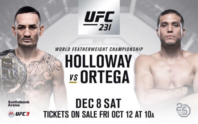 UFC 231 Matchkort