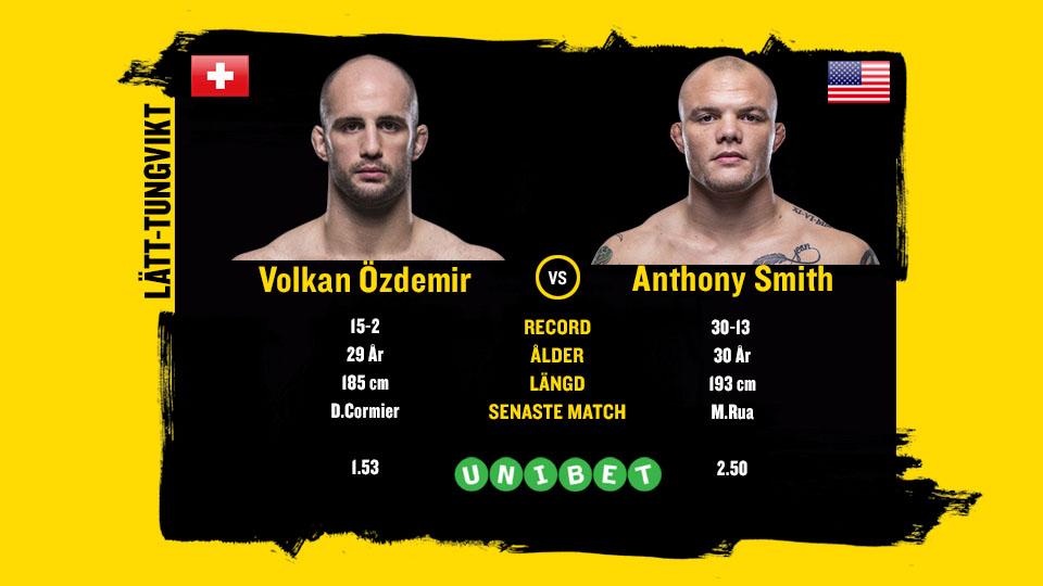 Volkan Özdemir vs Anthony Smith UFN 138