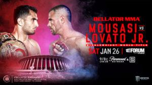 Bellator 214 Gegard Mousasi vs Rafael Lovato Jr poster