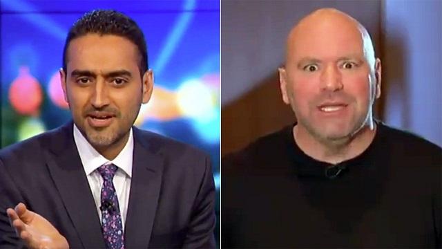 Dana White och reportern Waleed Ali