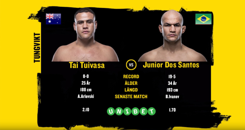 Tai Tuivasa vs. Junior dos Santos UFN 142