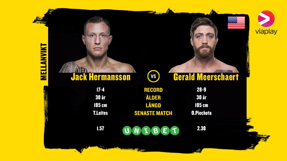 Jack Hermansson vs Gerald Meerschaert
