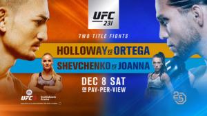 UFC 231 Poster