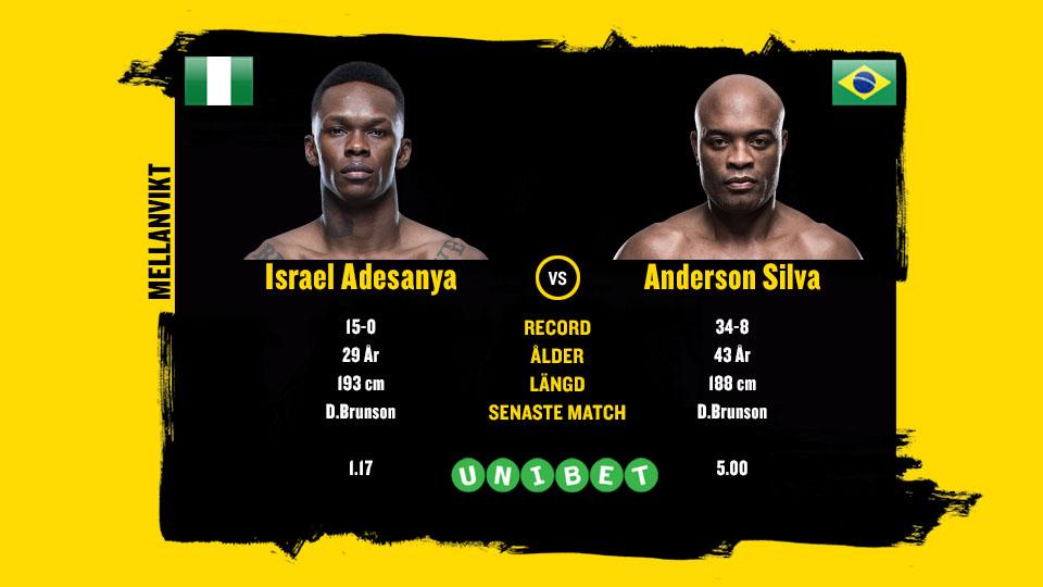 Anderson Silva vs Israel Adesanya UFC 234