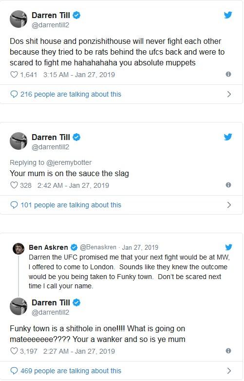 Darren Till och Ben Askren twitter-krig