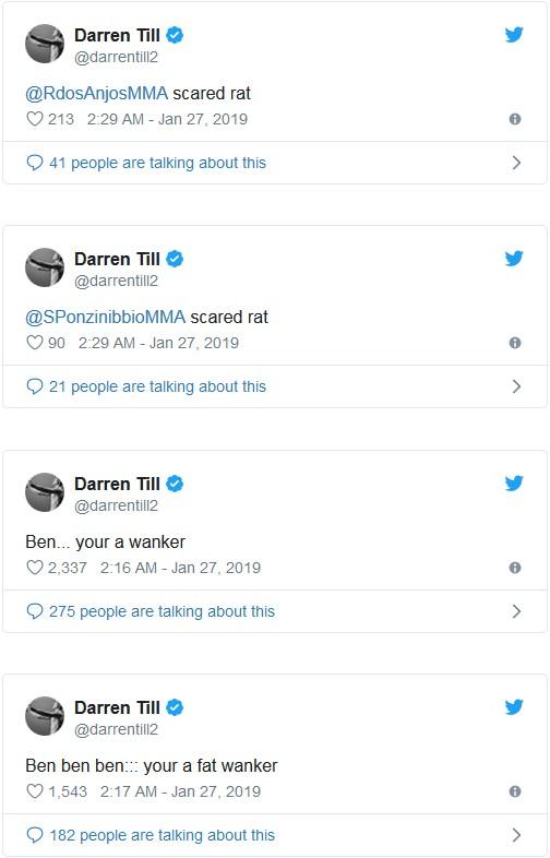 Darren Till twitterkrig