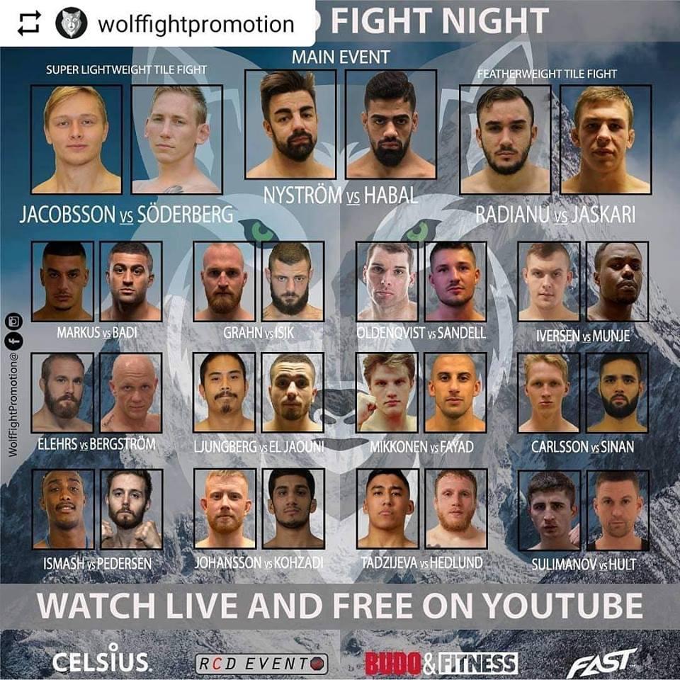 Halmstad Fight Night MATCHKORT bild