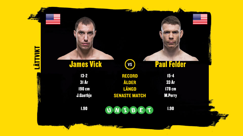 James Vick vs Paul Felder UFC Phoenix