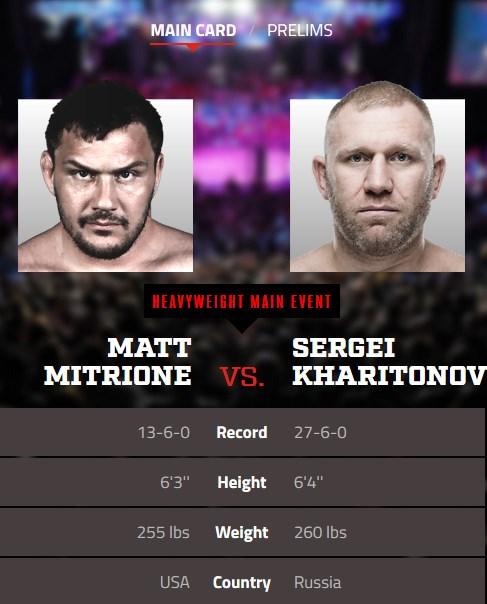 Bellator 215 Matt Mitrione vs. Sergei Kharitonov