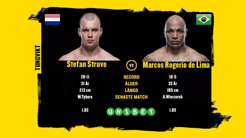 Stefan Struve vs Marcos Rogerio de Lima UFC Prag