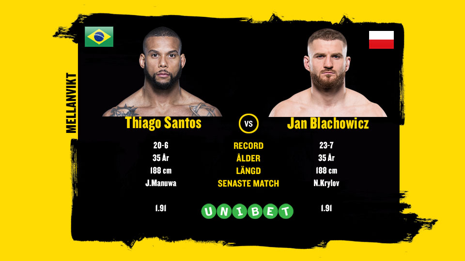 Thiago Santos vs Jan Blachowicz UFC Prag
