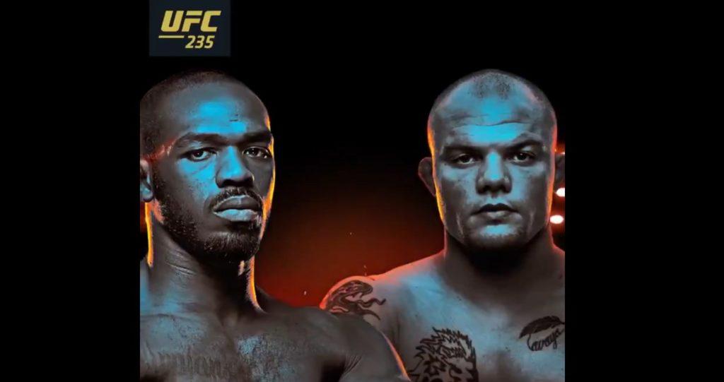 UFC 235 POSTER