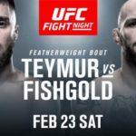 UFC Prag Daniel Teymur vs Chris Fishgold Matchkort