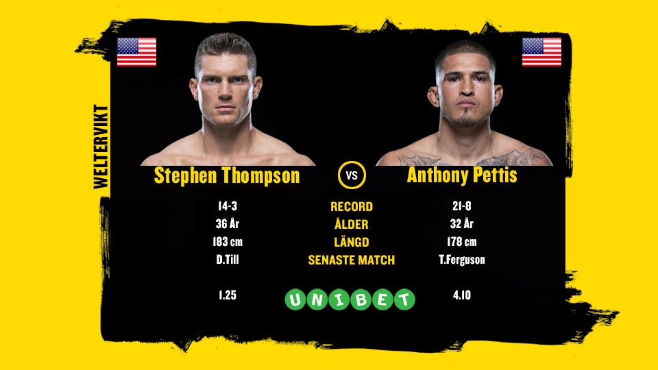 Anthony Pettis vs Stephen Thompson UFC Nashville