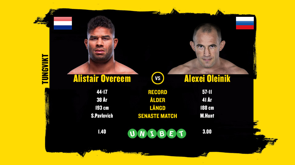Alistair Overeem vs Alexei Oleinik UFC Russia