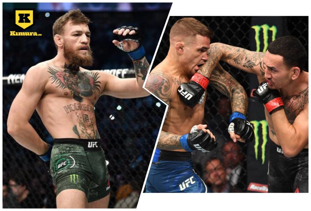 Conor McGregor Max Holloway Dustin Poirier