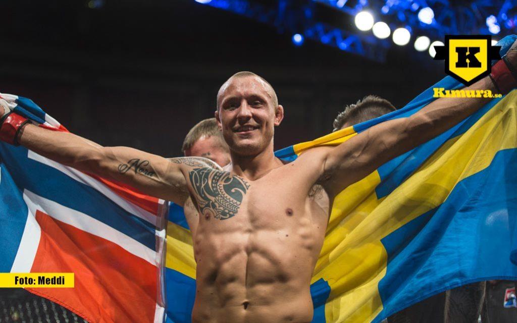 Jack Hermansson UFC med flagga