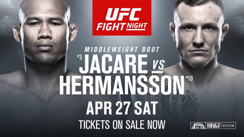 Jack Hermansson vs Jacare poster