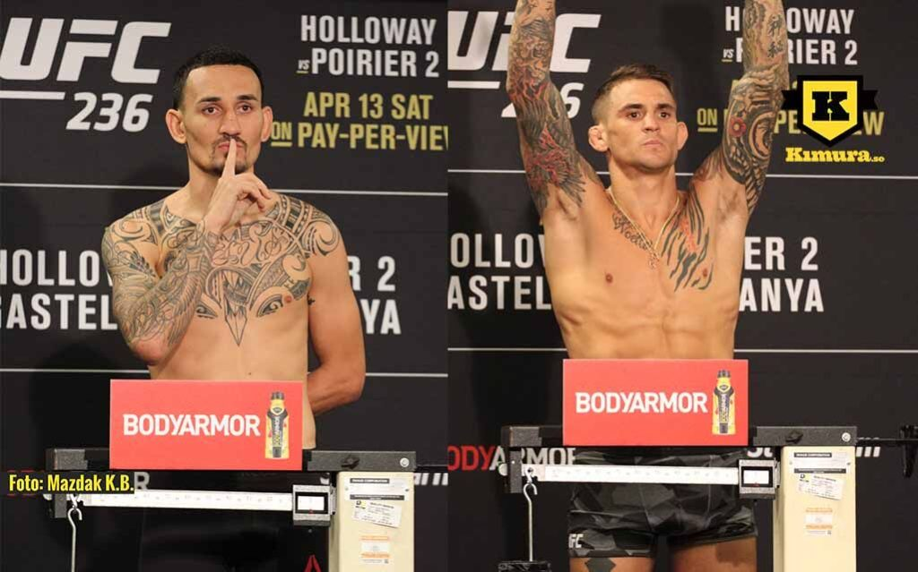 UFC 236 Max Holloway vs Dustin Poirier