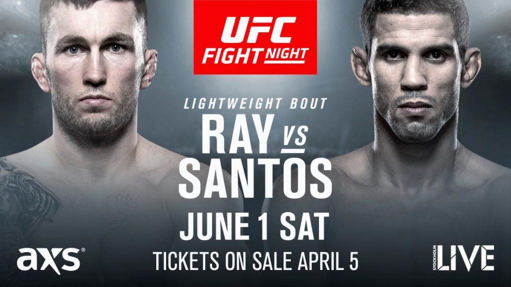 UFC Sverige Stevie Ray vs Leo Santos