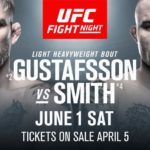 UFC Sverige Alexander Gustafsson vs. Anthony Smith