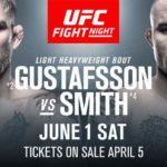 UFC Sverige Alexander Gustafsson vs. Anthony Smith