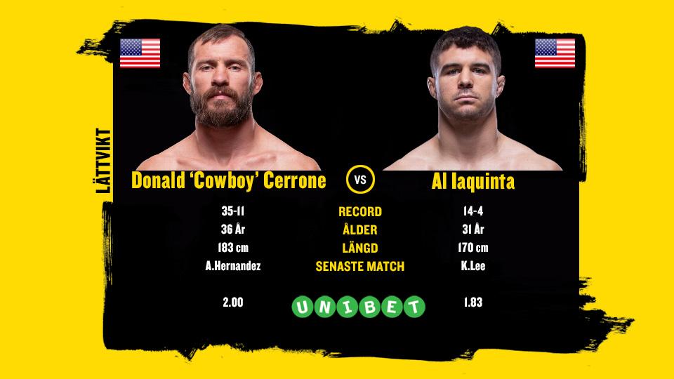Donald Cowboy Cerrone vs Al Iaquinta UFC Ottawa