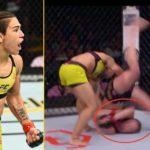 Jessica Andrade slam KO Rose Namajunas