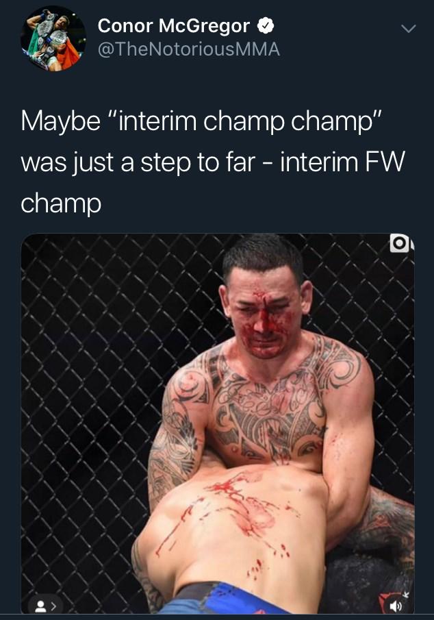 Max Holloway Conor McGregor tweet