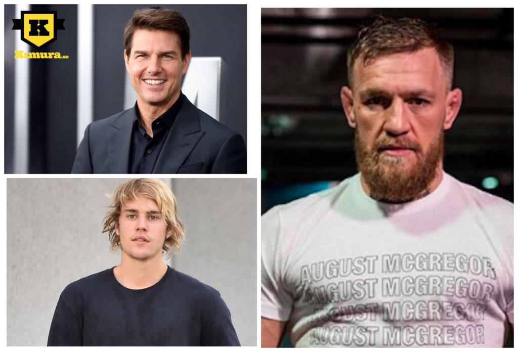 Conor McGregor Tom Cruise Justin Bieber MMA-match