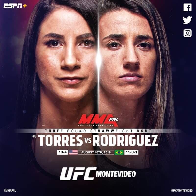 tecia torres vs marina rodriguez UFC on ESPN + 14