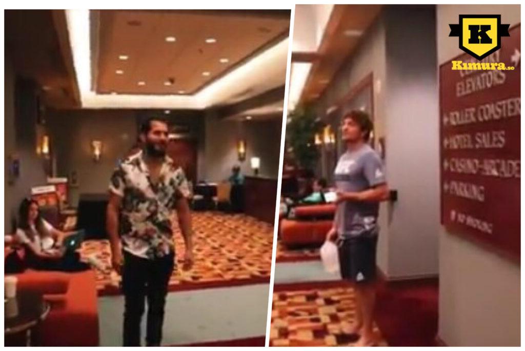Ben Askren vs Jorge Masvidal hotellobby