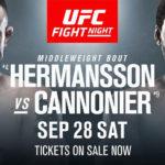 UFC Köpenhamn Jack Hermansson matchkort