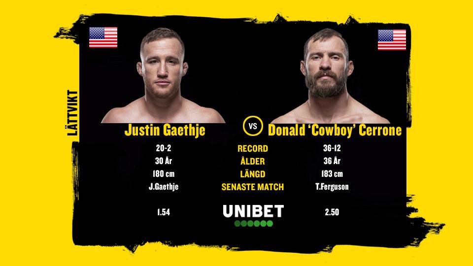 Donald Cerrone vs Justin Gaethje UFC Vancouver